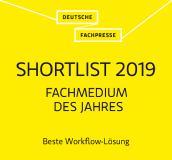Shortlist 2019 Beste Workflow-Lösung