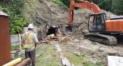 Kenville Mine: 257 Portal excavation