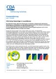 [PDF] Pressemitteilung: CDA fertigt Datenträger in Leuchtfarben