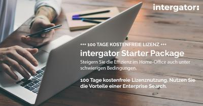 100 Tage lizenzkostenfreies intergator Starter-Package