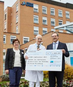 Meiko spendet 1.000 Euro für neuen Spielplatz am Klinikum