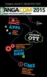 ANGA COM 2015: Axinom und bitmovin beschließen strategische