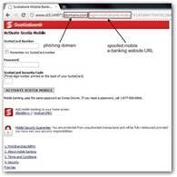 Screenshot der gefälschten Scotiabank-Website