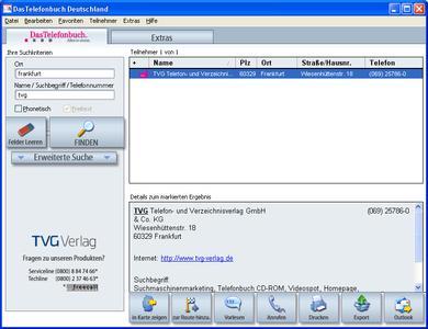 DasTelefonbuch Frühjahr 2009 (Screenshot, 2D)