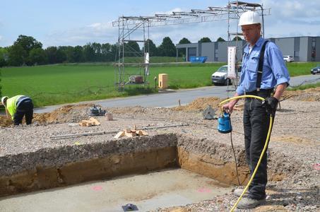Kein Problem für die SIMER Pumpe ist die Trockenlegung einer Baugrube (Foto: Pentair Jung Pumpen, Steinhagen)