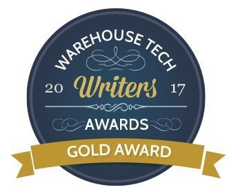 """Der Blog von Swisslog gewinnt den Warehouse Tech Writers Award 2017 von explorewms.com in der Kategorie """"Best Vendor Blog"""""""