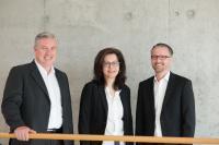 v.l.n.r. Michael Müller geschäftsführender Gesellschafter Ifo GmbH, Nicole Kässer Prokuristin Ifo und Qubus GmbH , Marc Holz Geschäftsführer Ifo GmbH