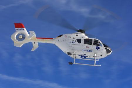 EC135 – HEMS configuration - is enclosed (© Copyright Alexandre Dubath/Eurocopter)