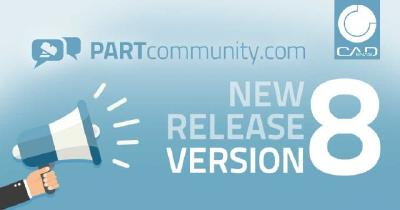 PARTcommunity Version 8 sets standards for the 3D CAD download of the future