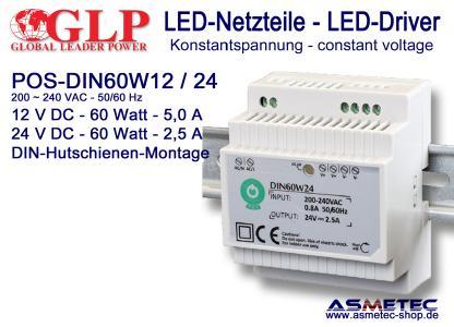 GLP LED-Netzteil POS DIN 60 Watt