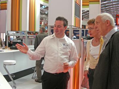 Die Color Alliance auf der Fespa bei ihren Partnern Neschen AG, Erfurt und Julius Heywinkel GmbH.