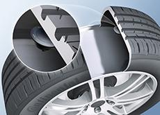 VDO's Automechanika highlight will be the VDO REDI-Sensor for Europe / The sensors, which are approximately the size of a 50-cent piece, are simply bonded to the inside of the tire / Photo: ContiTech