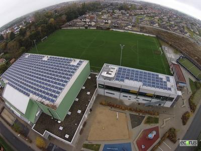 Middelkerke rooftop PV system on sports hall