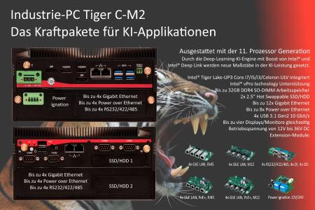 Industrie-PC Tiger: Kraftpakete für KI-Applikationen