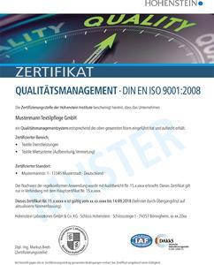 Weit mehr als eine Million Unternehmen weltweit haben sich bislang erfolgreich nach ISO 9001 zertifizieren lassen. © Hohenstein Institute