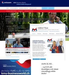 Die Mobile Business Solution MOBILE TEAM für SWISSCOM KMU G...