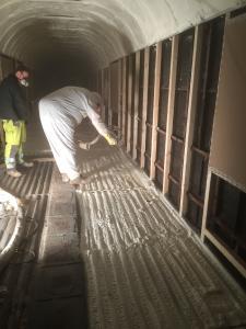 Schröder Spritzschaumtechnik bietet brandhemmende Beschichtung für Gebäudeisolierung mit Polyurethan-Schaum