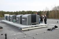 Compact refrigerating solution on the rooftops of Riga