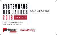 CONET belegt in Systemhausstudie den 2. Platz der besten mittelständischen Systemhäuser in Deutschland