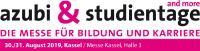 Logo der azubi- & studientage Messe Kassel 2019