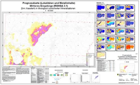 Figure: Mineral Potential Map of the Central Erzgebirge: Sn in skarns (project ROHSA)