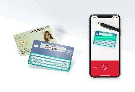 The EHIC Scanner is one of several features of the Scanbot SDK and can be integrated into mobile healthcare apps to scan European Health Insurance Cards.
