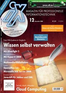 Das Titelbild der aktuellen iX-Ausgabe 12/2008