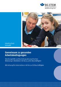 Titelbild der Handlungshilfe der BG ETEM