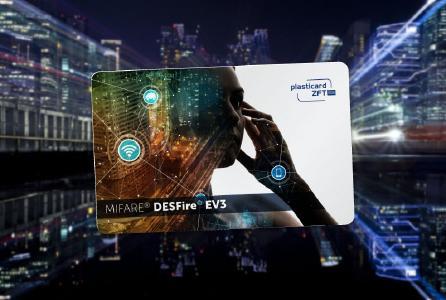MIFARE Chipkarte von Plasticard-ZFT mit DESFire EV3