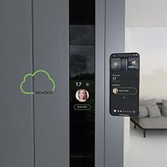 Das DCS SmartTouch System besteht aus dem DCS SmartTouch Modul, der eigenen Schüco App und der Schüco Cloud