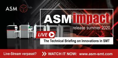 ASM Impact – Release Summer 2020: Erstmals veranstaltete ASM einen einstündigen Livestream mit Expertenchat zur Päsentation seiner Neuheiten. Die Veranstaltung war ein voller Erfolg / Bildquelle: ASM