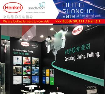 Sonderhoff booth at the Auto Shanghai show