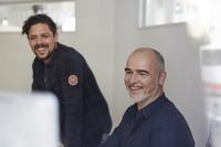 Wieland Schmoll (links) und Clemens Meiß, Geschäftsführer der Kölner Markenagentur Get the Point, sind die Autoren des Expertenpapiers / Foto: Get the Point