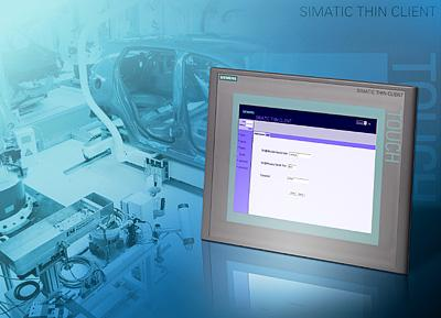 Compact thin clients for human machine interfacing in a client-server structure