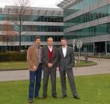 v.l.n.r. Christof Biba, Jean-Philipp Boucq, Frederic Herzog - Wagner & Co Belgium sales office