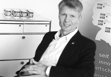 Oliver Büring, Geschäftsführer der CEMA GmbH Spezialisten für  IT Services, Mannheim