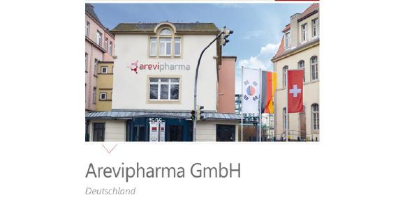Firmengebäude der Arevipharma GmbH