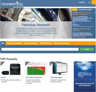 Anwender, die auf der Suche nach einem passenden Telematik-System sind, finden auf der internationalen Such-Plattform Telematics-Scout.com zahlreiche Telematik-Systeme von unterschiedlichsten Anbietern