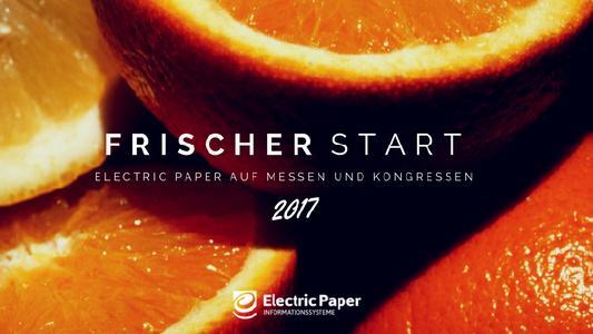 Electric Paper Informationssysteme Messen und Kongresse 2017
