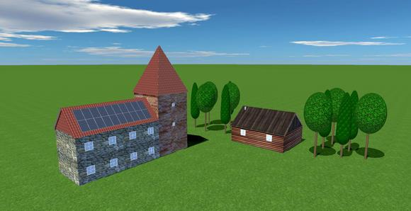Buildings and shading objects are freely configurable
