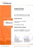Innovationspreis 2007 Industrie für die NOVATEC BioSol AG