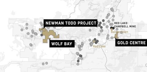Abbildung 1 Lage des Grundstücks des Newman Todd Projekts, das nun zu 100 % Trillium Gold Mines gehört