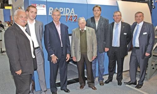 Management of French printing company Imprimerie de Champagne will take delivery of the eight-colour Rapida 142 on the KBA stand directly after the show