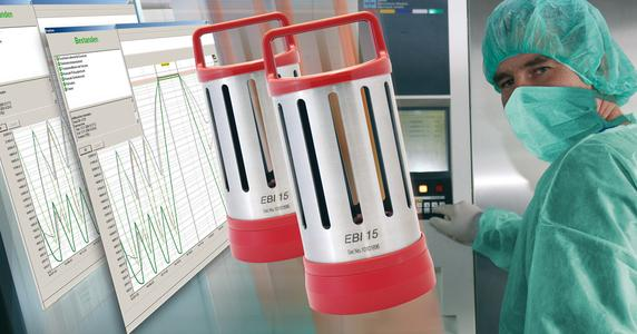 EBI 15 Bowie-Dick-Logger von ebro für die Routinekontrolle von Dampfsterilisatoren gemäß DIN EN 285 und EN ISO 11140-4.