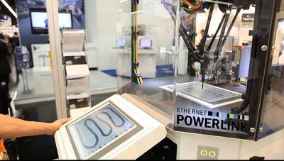 Schnelligkeit und Synchronität des Tripod-Roboters mit gemischten Antriebskomponenten beweisen Geschwindigkeit, Präzision und Herstellerneutralität von POWERLINK