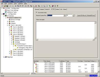 ET9000 Remote Access zu EtherCAT Master