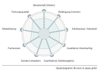 Spiderdiagramm, Foto vision & values corporate consulting GmbH