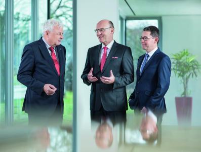 Der Vorstand der Bank Schilling: Aloys Tilly, Matthias Busch, Thomas Ulsamer