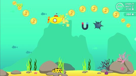 Beim Sammeln von Münzen unter Wasser macht das Training besonders viel Spaß.