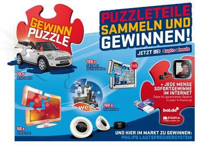 Ferrero GEWINN PUZZLE für Duplo & Hanuta mit 400.000 Pixum Aktions-Gutscheinen